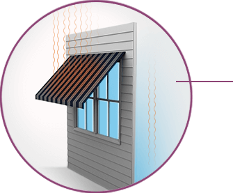Light Transmission With Awning