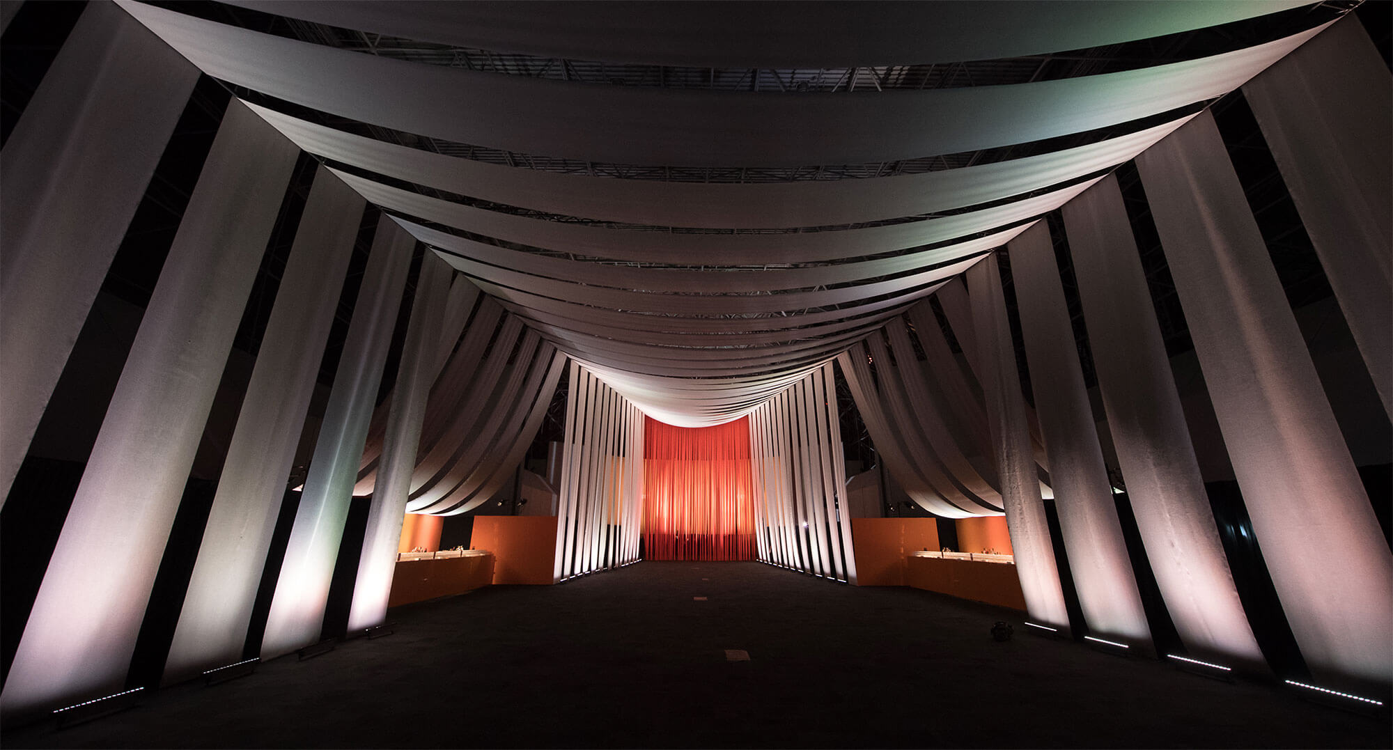 Long view of the Sunbrella Hall at Interior Design's Hall of Fame.