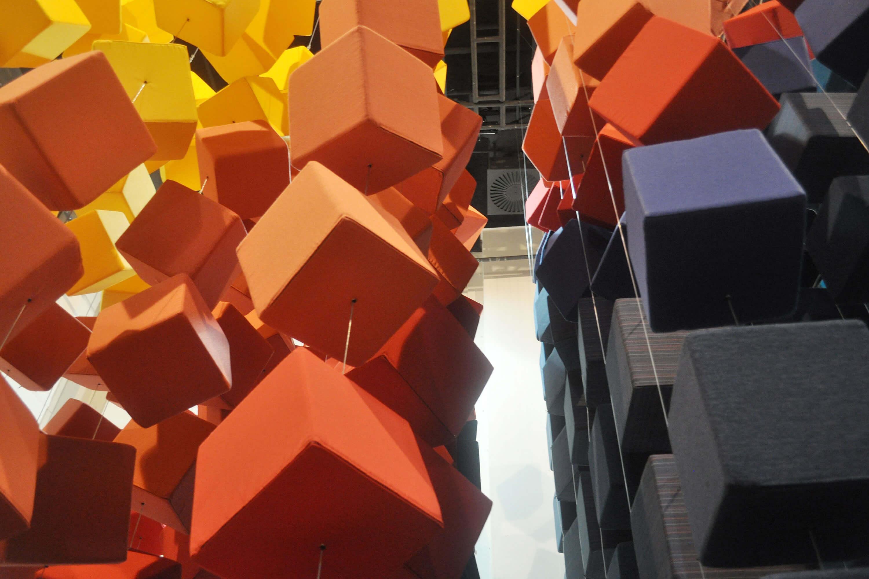 The Sunbrella Spectrum installation at the Singapore InDesign show