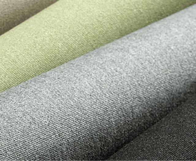 Glamour image of Sunbrella Unity fabrics, made with partial recycled fabric content